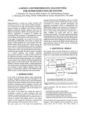Primary view of object titled 'A design and performance analysis tool for superconducting RF systems'.