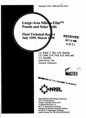 Primary view of object titled 'Large-area Silicon-Film{trademark} panels and solar cells. Final technical report, July 1995--March 1998'.