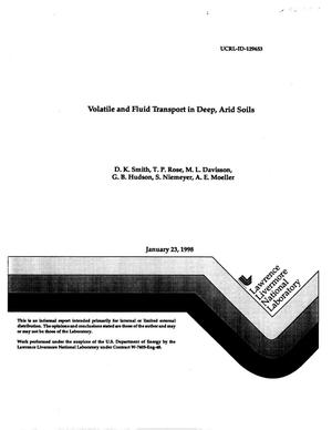 Primary view of object titled 'Volatile and fluid transport in deep, arid soils, FY97 LDRD Final Report'.