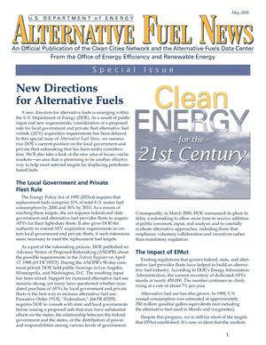 Primary view of object titled 'Alternative Fuel News: May 2000 Special Edition'.