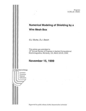 Numerical modeling of shielding by a wire mesh box - Digital