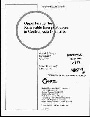 Primary view of object titled 'Opportunities for renewable energy sources in Central Asia countries'.