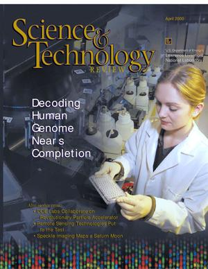 Primary view of object titled 'Science & Technology Review, April 2000'.