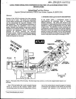 Primary view of object titled 'Long-term operating experience for the ATLAS superconducting resonators'.