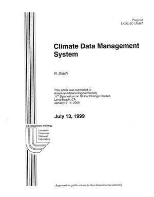 Primary view of object titled 'Climate data management system'.