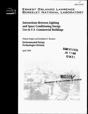 Primary view of object titled 'Interactions between lighting and space conditioning energy use in U.S. commercial buildings'.