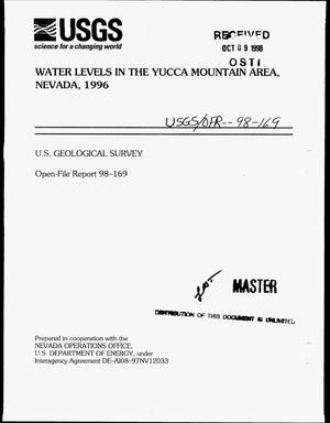 Primary view of object titled 'Water levels in the Yucca Mountain Area, Nevada, 1996'.