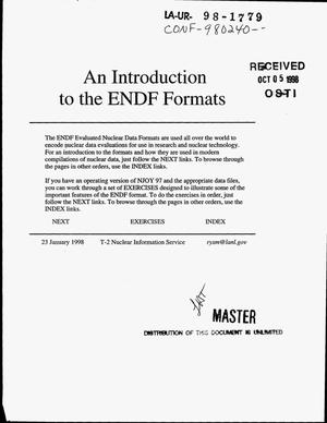 Primary view of object titled 'An introduction to the ENDF formats'.