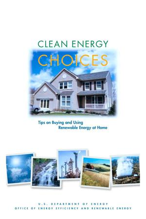 Primary view of object titled 'Clean energy choices: Tips on buying and using renewable energy at home'.