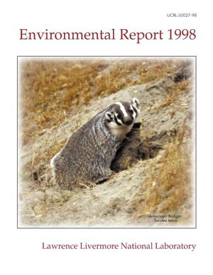 Primary view of object titled 'Environmental Report 1998'.