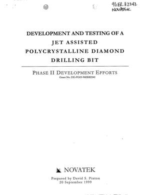 Primary view of object titled 'Development and Testing of a Jet Assisted Polycrystalline Diamond Drilling Bit. Phase II Development Efforts'.