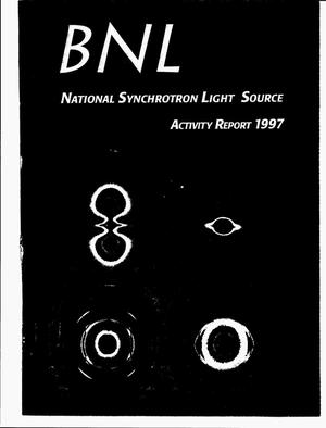 Primary view of object titled 'BNL National Synchrotron Light Source activity report 1997'.