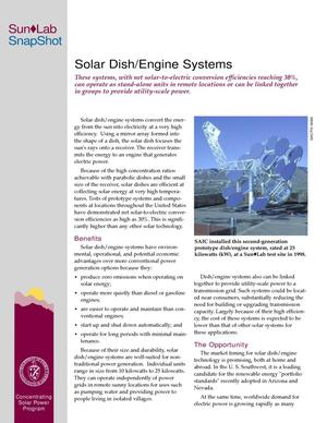 Primary view of object titled 'Solar dish/engine systems'.