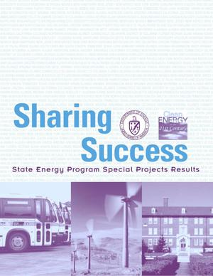 Primary view of object titled 'Sharing success: State energy program special projects results'.