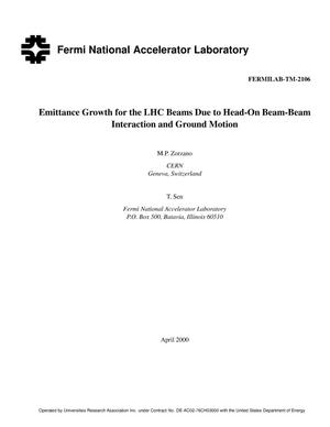 Primary view of object titled 'Emittance growth for the LHC beams due to head-on beam-beam interaction and ground motion'.