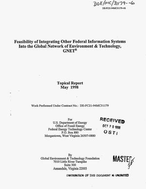 Primary view of object titled 'Feasibility of integrating other federal information systems into the Global Network of Environment and Technology, GNET{reg_sign}'.