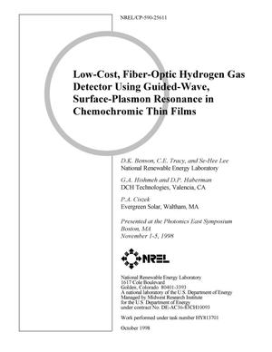 Primary view of object titled 'Low-Cost, Fiber-Optic Hydrogen Gas Detector Using Guided-Wave, Surface-Plasmon Resonance in Chemochromic Thin Films'.