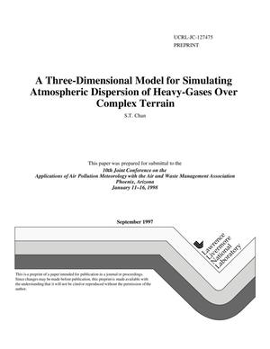 Primary view of object titled 'Three-dimensional model for simulating atmospheric dispersion of heavy-gases over complex terrain'.