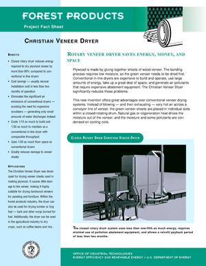 Primary view of object titled 'Christian veneer dryer: Forest products fact sheet'.