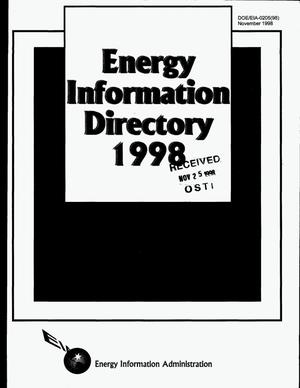 Primary view of object titled 'Energy information directory 1998'.