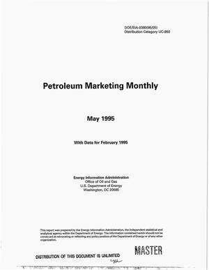 Primary view of object titled 'Petroleum marketing monthly, May 1995 with data for February 1995'.