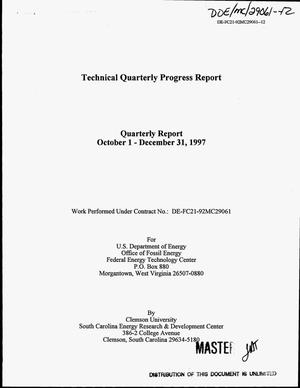 Primary view of object titled 'Advanced gas turbine systems research. Technical quarterly progress report, October 1--December 31, 1997'.