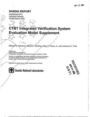 Primary view of object titled 'CTBT integrated verification system evaluation model supplement'.