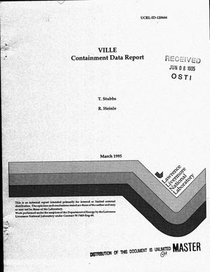 Primary view of object titled 'VILLE containment data report'.