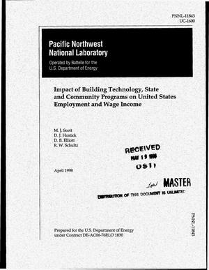 Primary view of object titled 'Impact of building technology, state and community programs on United States employment and wage income'.