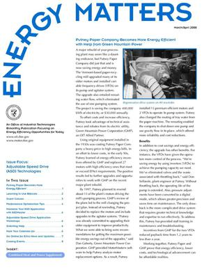 Primary view of object titled 'Energy Matters Newsletter, March/April 2000'.