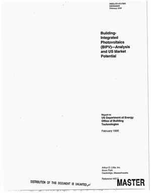 Primary view of object titled 'Building-integrated photovoltaics (BIPV): Analysis and US market potential. Final report'.