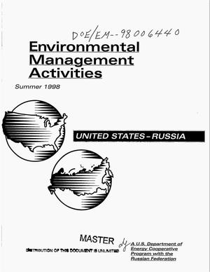 Primary view of object titled 'United States-Russia: Environmental management activities, Summer 1998'.
