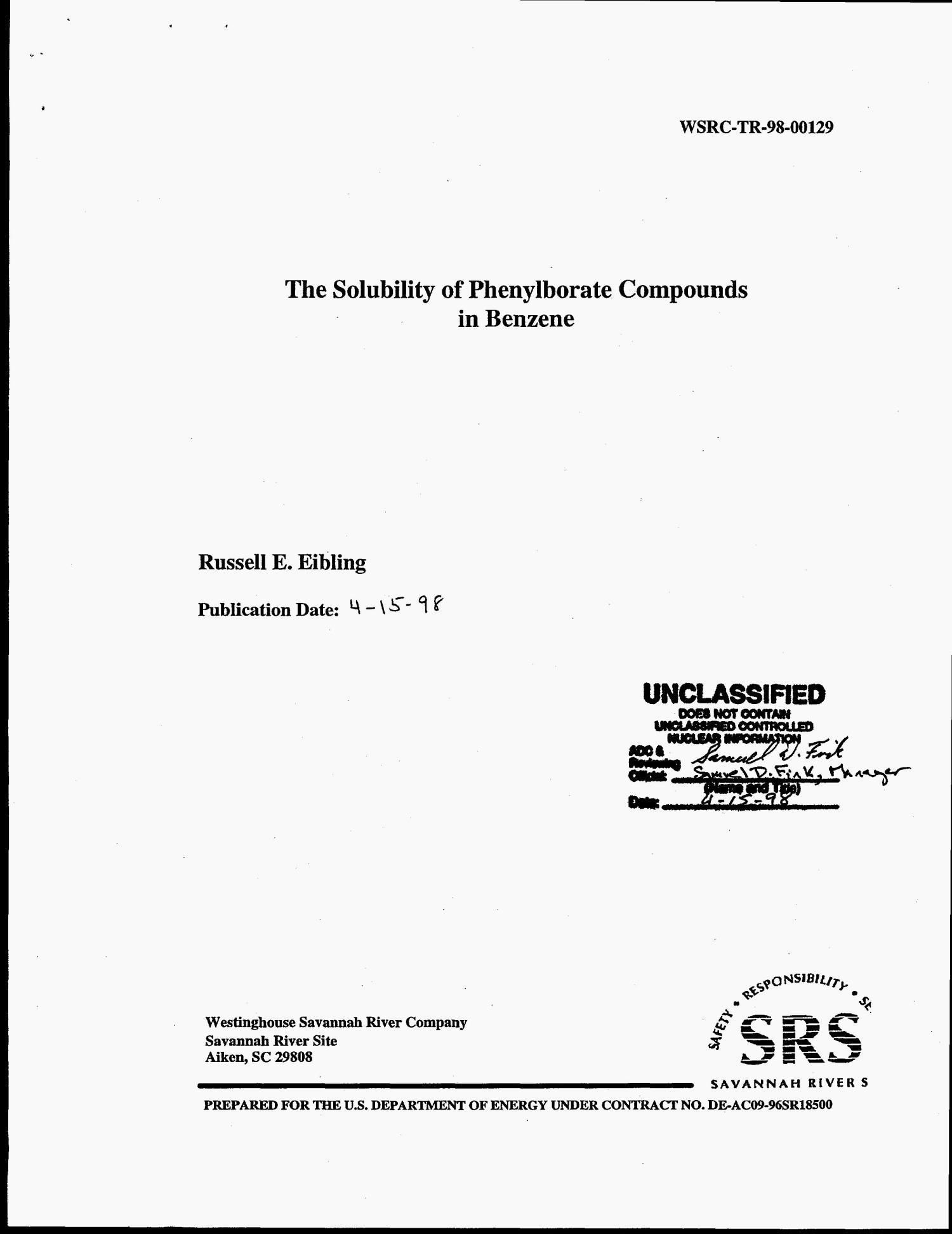 The Solubility of Phenylborate Compounds in Benzene                                                                                                      [Sequence #]: 4 of 12