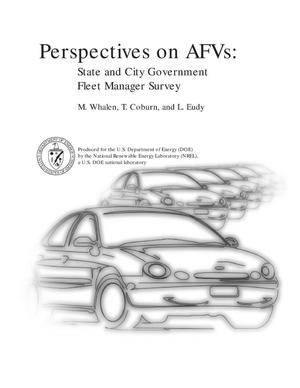Primary view of object titled 'Perspectives on AFVs: State and city government fleet manager survey'.