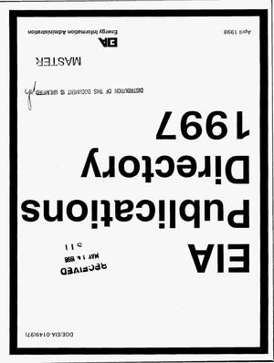 Primary view of object titled 'EIA publications directory 1997'.