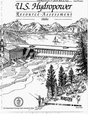 Primary view of object titled 'U.S. hydropower resource assessment for Idaho'.