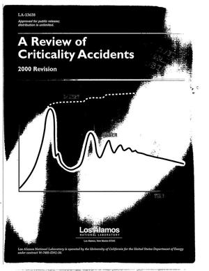Primary view of object titled 'A Review of Criticality Accidents 2000 Revision'.