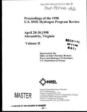 Primary view of object titled 'Proceedings of the 1998 U.S. DOE Hydrogen Program Review: Volume 2'.