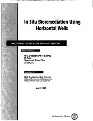 Primary view of object titled 'In situ bioremediation using horizontal wells'.