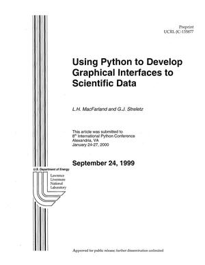 Primary view of object titled 'Using Python to Develop Graphical Interfaces to Scientific Data'.