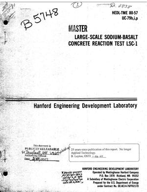 Primary view of object titled 'Large-scale sodium-basalt concrete reaction test LSC-1'.