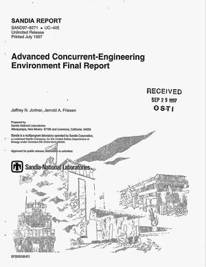 Primary view of object titled 'Advanced concurrent-engineering environment. Final report'.
