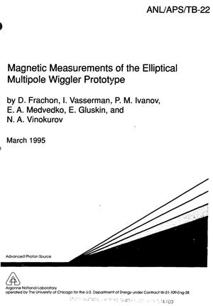 Primary view of object titled 'Magnetic measurements of the elliptical multipole wiggler prototype'.