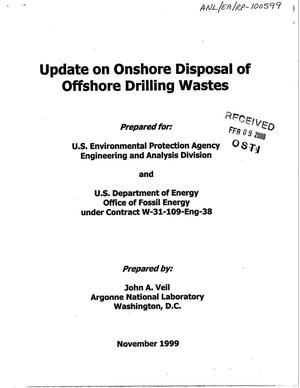Primary view of object titled 'Update on onshore disposal of offshore drilling wastes'.