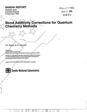 Primary view of object titled 'Bond additivity corrections for quantum chemistry methods'.