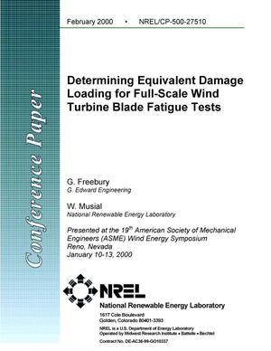 Primary view of object titled 'Determining equivalent damage loading for full-scale wind turbine blade fatigue tests'.