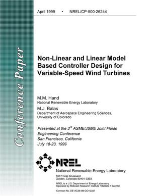Primary view of object titled 'Non-Linear and Linear Model Based Controller Design for Variable-Speed Wind Turbines'.