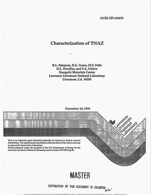 Primary view of object titled 'Characterization of TNAZ'.