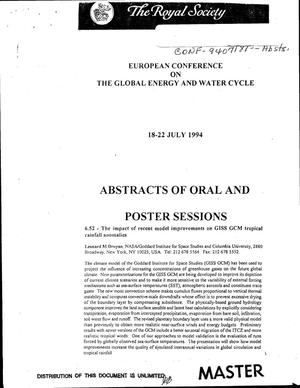 Primary view of object titled 'Abstracts of oral and poster sessions'.
