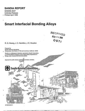 Primary view of object titled 'Smart interfacial bonding alloys'.